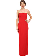 Badgley Mischka - Strapless Piped Stretch Crepe Gown