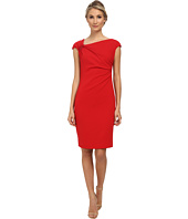 Badgley Mischka - Shirred Stretch Crepe Cocktail Dress