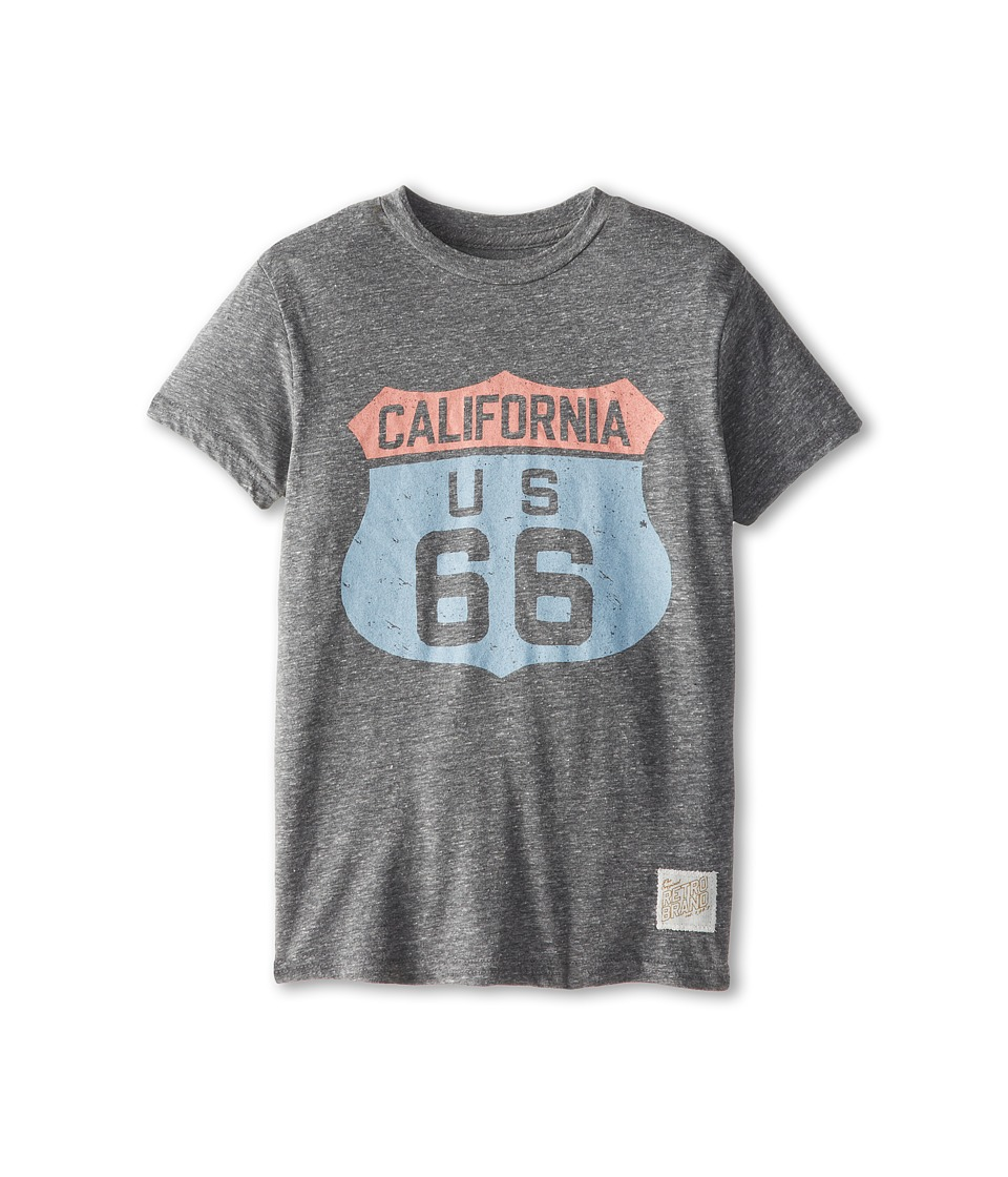The Original Retro Brand Kids Cali 66 T Shirt Big Kids Streaky Grey Boys T Shirt