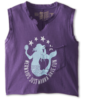 The Original Retro Brand Kids - Mermaids Just Want To Have Fun Cropped Tank Top (Big Kids)