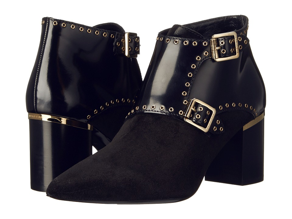 Burberry Templemead Black Womens Pull on Boots