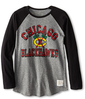 The Original Retro Brand Kids - Chicago Blackhawks Long Sleeve Baseball Tee (Big Kids)