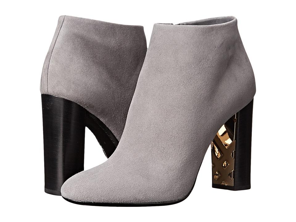 Burberry Kennard Storm Grey Womens Zip Boots