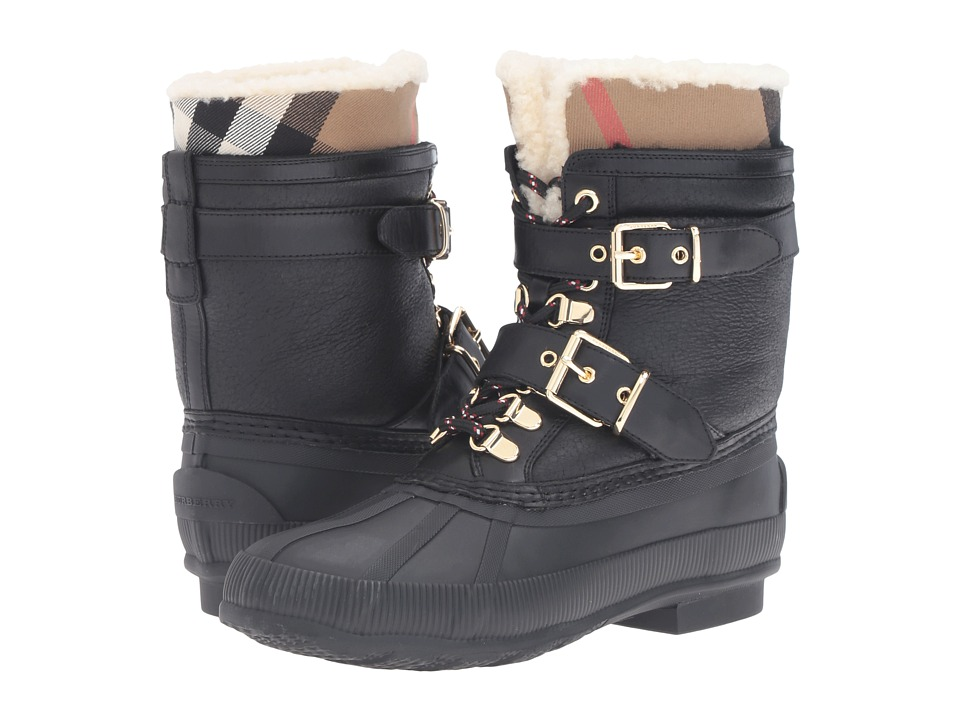 Burberry - Windmere (House Check/Black) Womens Lace-up Boots