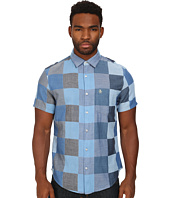Original Penguin - Large Checkered Chambray Short Sleeve Woven Heritage Shirt