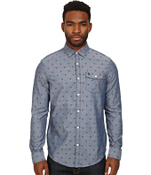 Original Penguin - Checker Dobby On Chambray Long Sleeve Woven Heritage Shirt