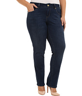 Jag Jeans Plus Size - Plus Size Patton Mid Rise Straight Jeans in Blue Shadow