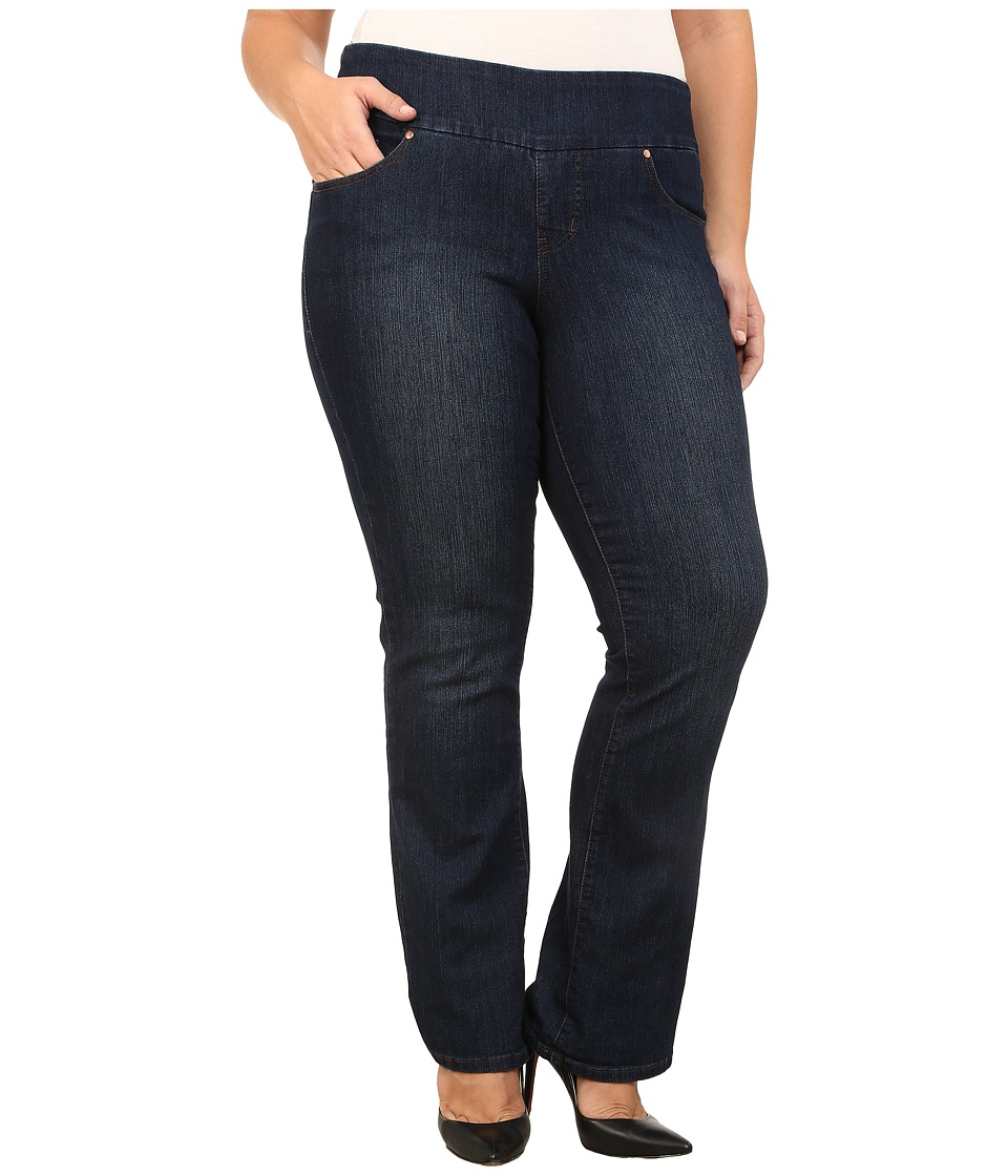Jag Jeans Plus Size Plus Size Paley Pull On Boot Leg in Blue Shadow Blue Shadow Womens Jeans