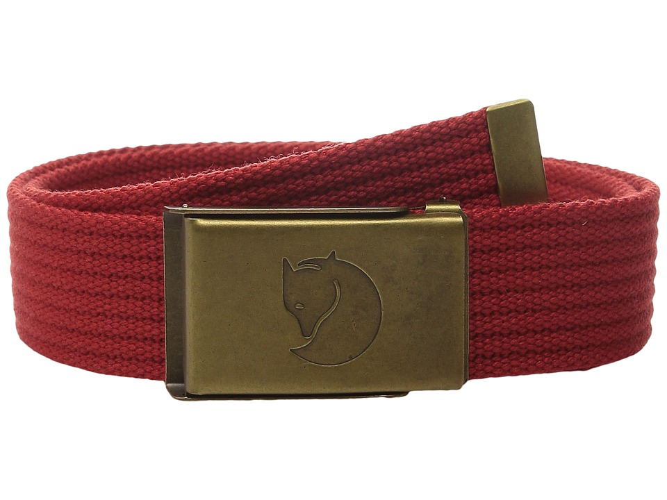 Fjallraven Kids - Kids Canvas Belt (Deep Red) Kids Belts