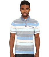Original Penguin - Carpet Stripe Polo with Chambray Collar Heritage