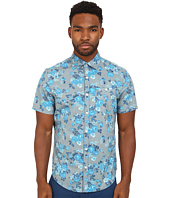 Original Penguin - Rose Print Poplin Short Sleeve Woven Heritage Shirt