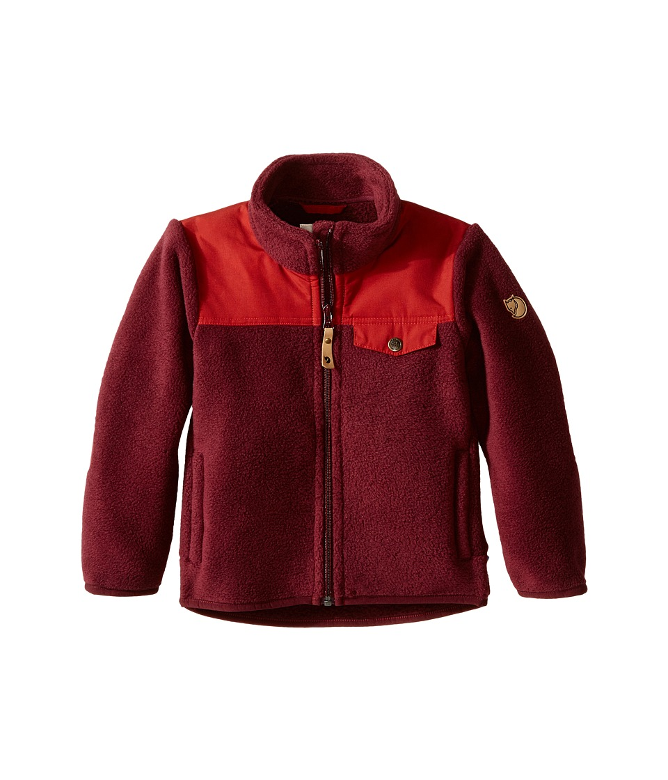 Fj llr ven Kids Kids Singi Fleece Jacket Dark Garnet Kids Coat