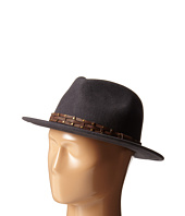 San Diego Hat Company - WFH8005 Fedora with Brown Leather Trim