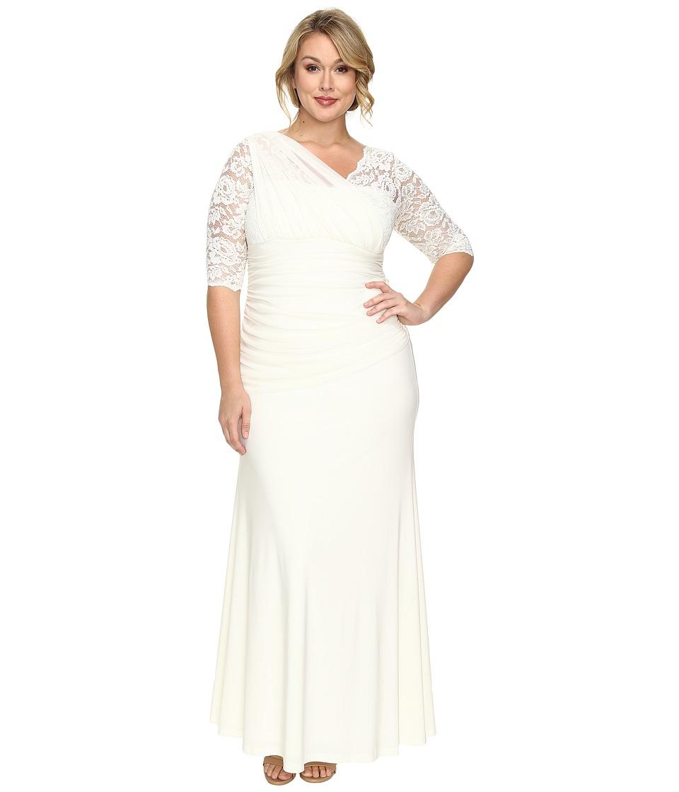 Kiyonna Elegant Aisle Wedding Dress (Ivory) Women