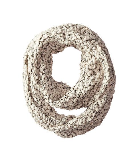 San Diego Hat Company BSS1509 Plus Texture Infinity Scarf with Gold Sequins - Ivory