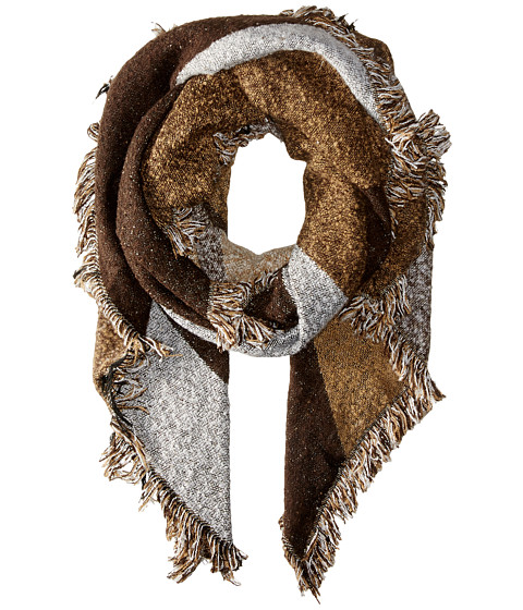 San Diego Hat Company BSS1535 Nubby Tweed Scarf with Fray Edges - Brown