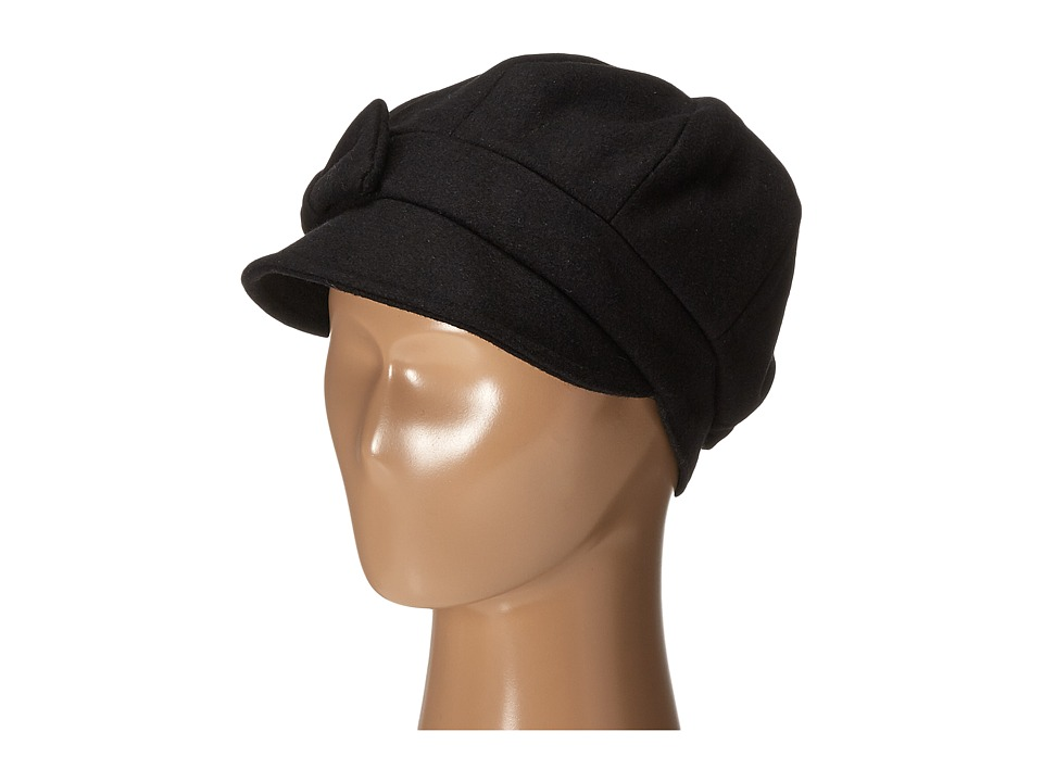 San Diego Hat Company - SDH3404 Wool Cap with Self Fabric Bow (Black) Caps
