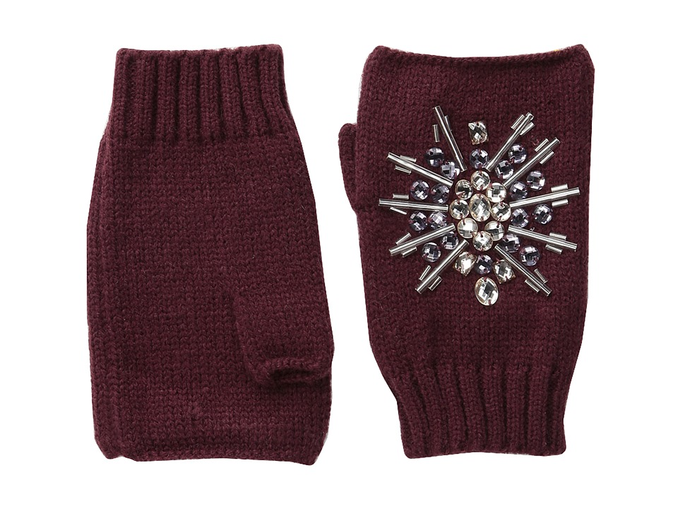 San Diego Hat Company KNG3397 Fingerless Gloves with Handstitched Faux Gems (Port) Extreme Cold Weather Gloves
