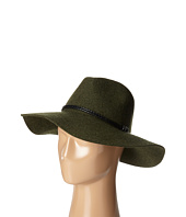 San Diego Hat Company - WFH8017 Floppy with Pinch Crown and Double Wrapped Faux Fur Leather Band