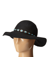 San Diego Hat Company - WFH7954 Round Crown Floppy with Faux Silver and Turquoise Bead