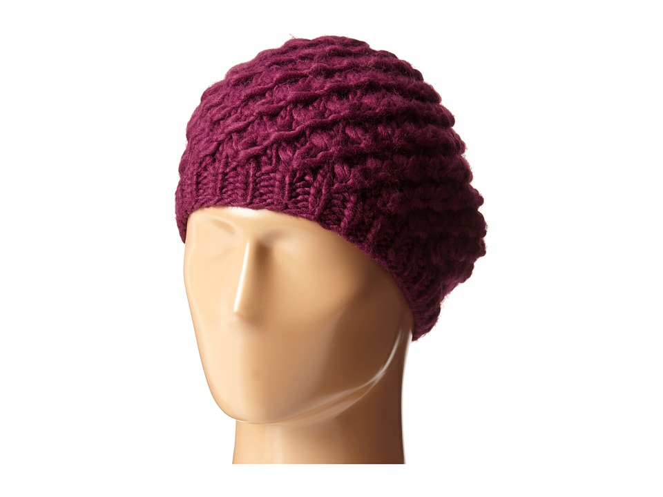1920s Style Hats San Diego Hat Company - KNH3366 Chunky Yarn Woven Beret Magenta Caps $25.99 AT vintagedancer.com