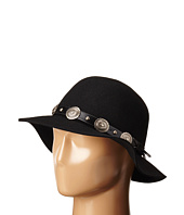 San Diego Hat Company - WFH8002 Round Crown Floppy with Faux Silver Concho Band