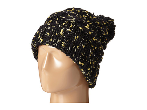 San Diego Hat Company KNH3362 Chunky Yarn Beanie with Metallic Yarn - Black