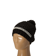 San Diego Hat Company - KNH3384 Chunky Stitch Beanie with Faux Gem Details and Pom Pom