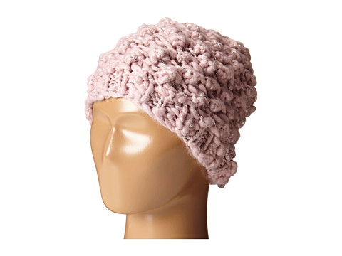 San Diego Hat Company KNH3352 Chunky Yarn Beanie with Silver Sequin Thread - Blush