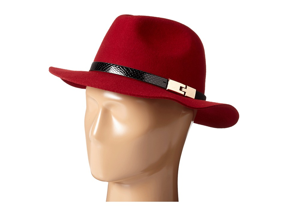 San Diego Hat Company - WFH7968 Adjustable Fedora with A Gold Buckle (Garnet) Fedora Hats