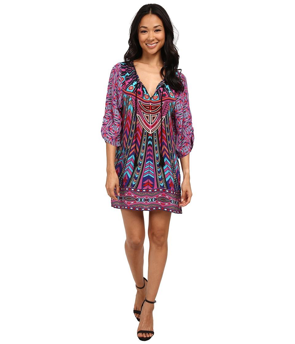 Tolani Nima Tunic Dress Fuchsia Womens Dress