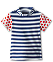 Toobydoo - Surf Shirt Red Dots/Stripe (Infant/Toddler/Little Kids/Big Kids)