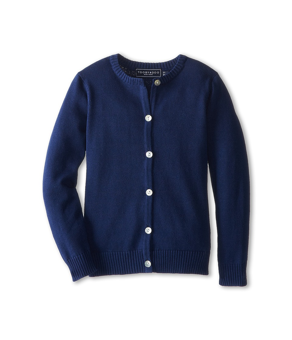 Toobydoo Cardigan Toddler/Little Kids/Big Kids Navy Girls Sweater
