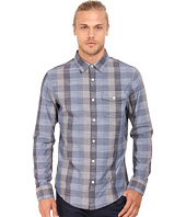 Original Penguin - Large Check Chambray Long Sleeve Woven Heritage