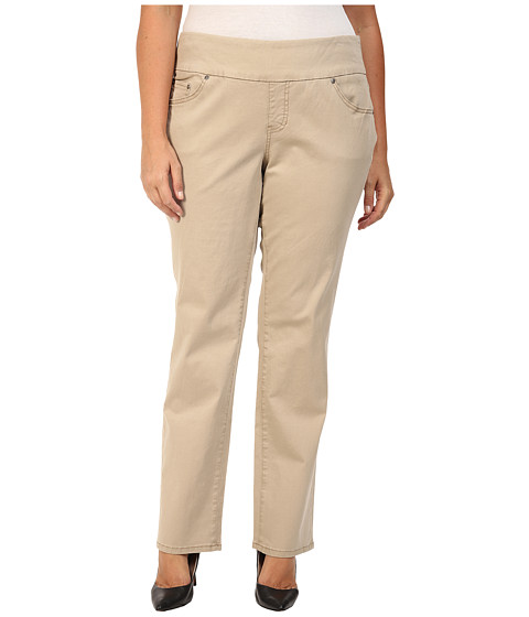 Jag Jeans Plus Size Plus Size Peri Pull On Straight Jeans in British Khaki