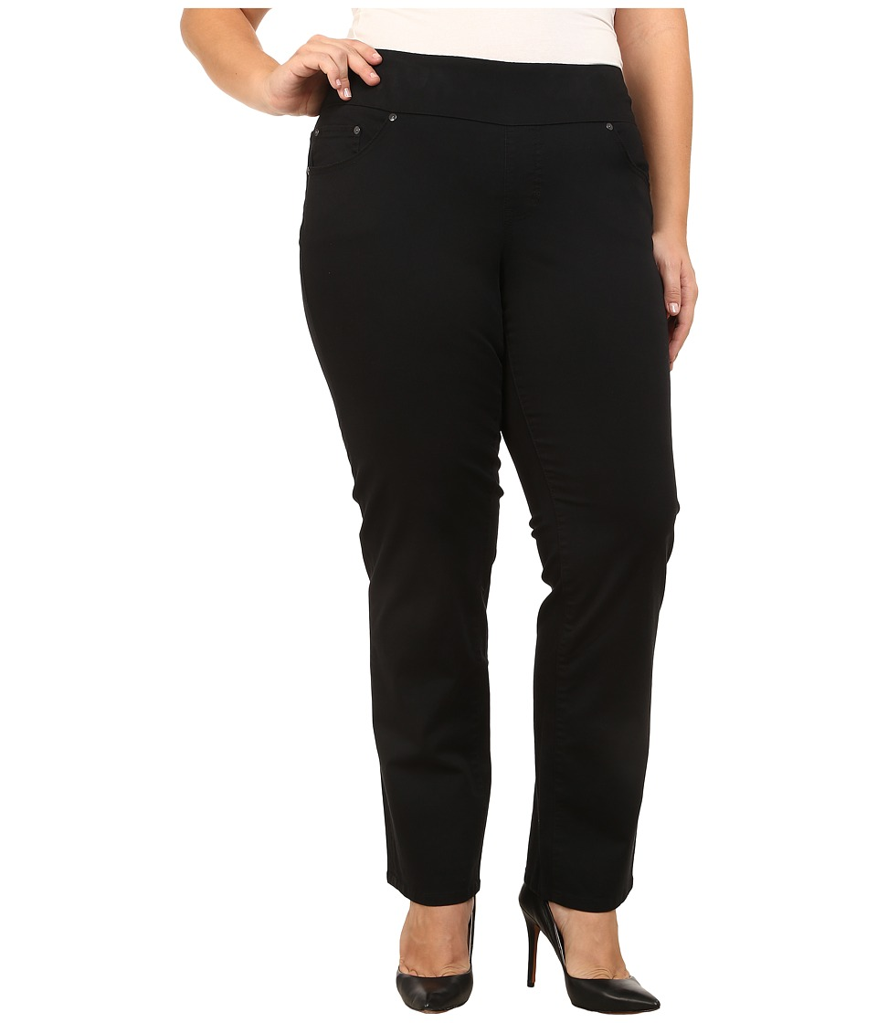 Jag Jeans Plus Size - Plus Size Peri Pull On Straight Twill in Black (Black) Womens Clothing