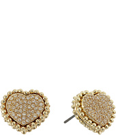 Betsey Johnson - All That Glitters Crystal and Gold Heart Studs
