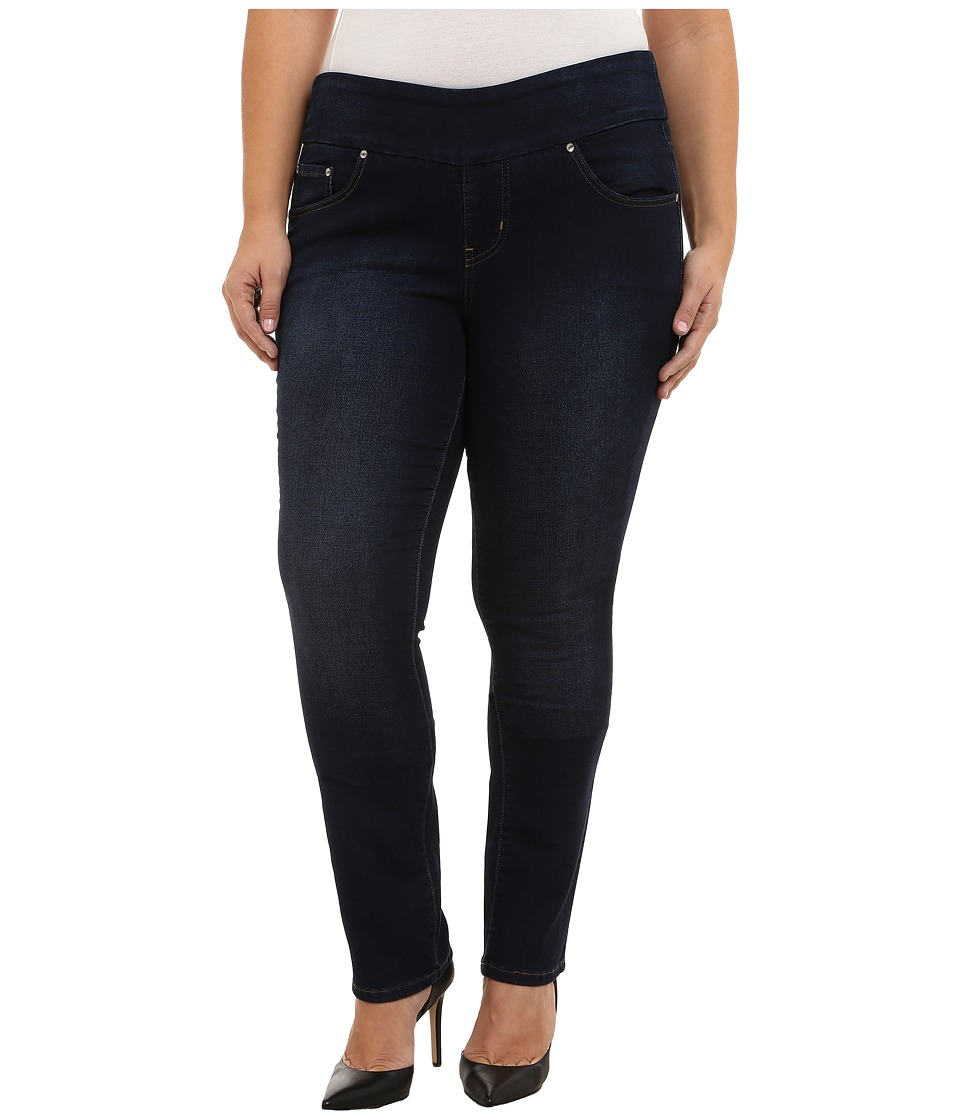 Jag Jeans Plus Size Plus Size Nora Pull On Knit Denim Narrow Jeans in Dark Whale Dark Whale Womens Jeans