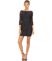Aidan Mattox - Beaded Three Quarter Sleeve Sheath Dress