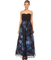 Aidan Mattox - Strapless Printed Organza Ball Gown