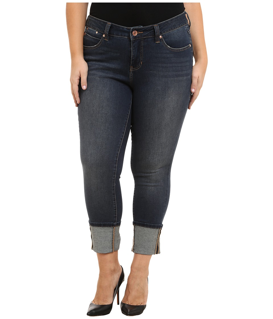 Jag Jeans Plus Size Plus Size Evan Long Cuff Mid Rise Slim Ankle Jeans in Melrose Melrose Womens Jeans