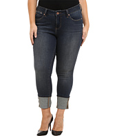 Jag Jeans Plus Size - Plus Size Evan Long Cuff Mid Rise Slim Ankle Jeans in Melrose
