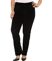 Jag Jeans Plus Size - Plus Size Peri Pull On Straight Jeans in Black