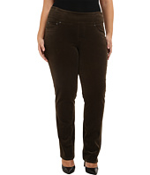 Jag Jeans Plus Size - Plus Size Peri Pull On Straight Jeans in Green Pine