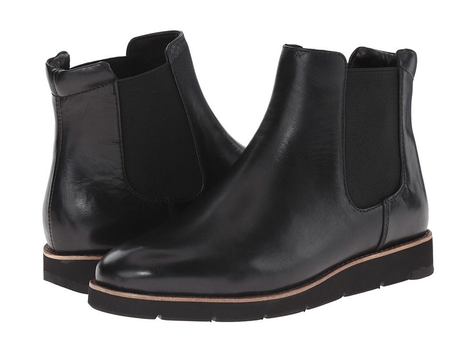 Johnston & Murphy Bree Gore Ankle Boot (Black Nappa Waterproof Leather) Women