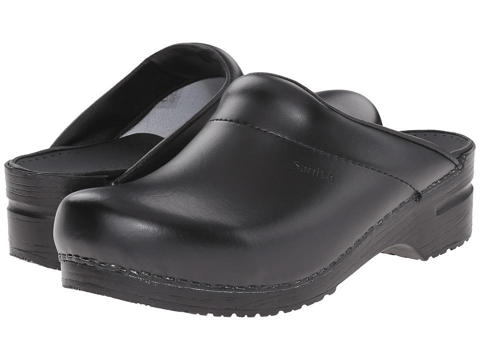 Sanita Original-Karl PU Open (Black) Men's Clog/Mule Shoes