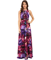 Badgley Mischka - Printer Full Back Halter Gown