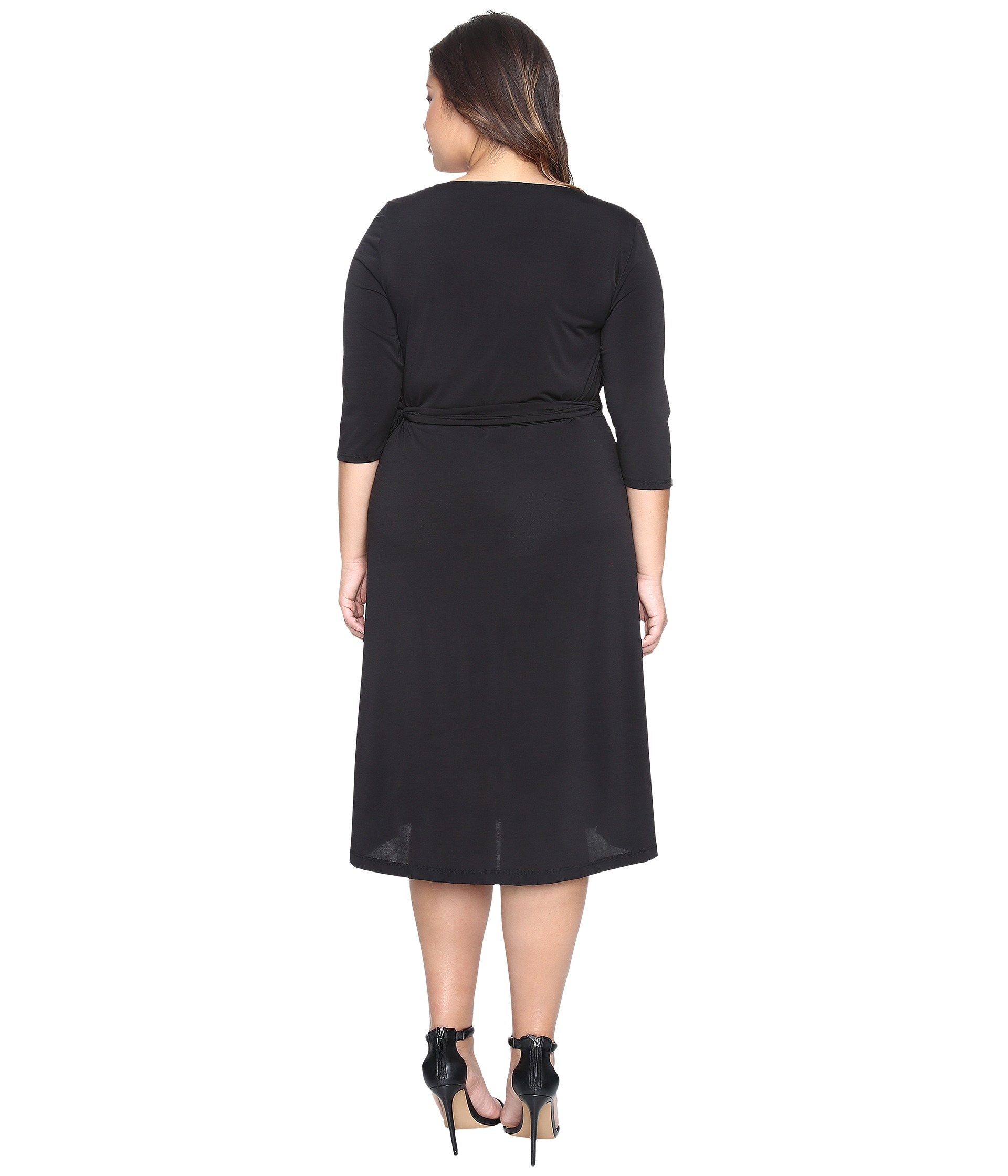 Kiyonna Sweetheart Knit Wrap Dress - Zappos.com Free Shipping BOTH ...