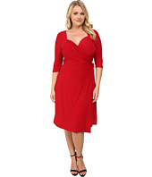 Kiyonna - Sweetheart Knit Wrap Dress