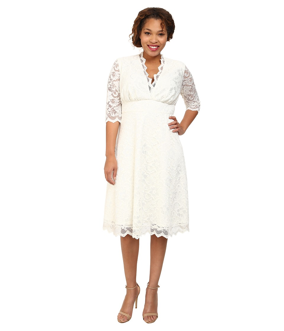 Kiyonna - Wedding Belle Dress (Ivory) Women's Dress